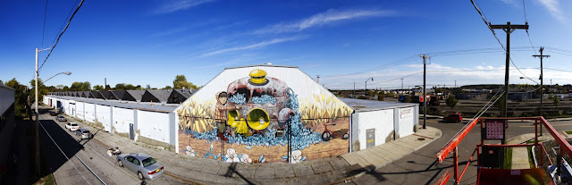 Street Art By Pixel Pancho For Wall Therapy 2013 In Rochester, USA. 3