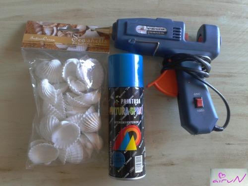 pistola silicona conchas bote spray pintura