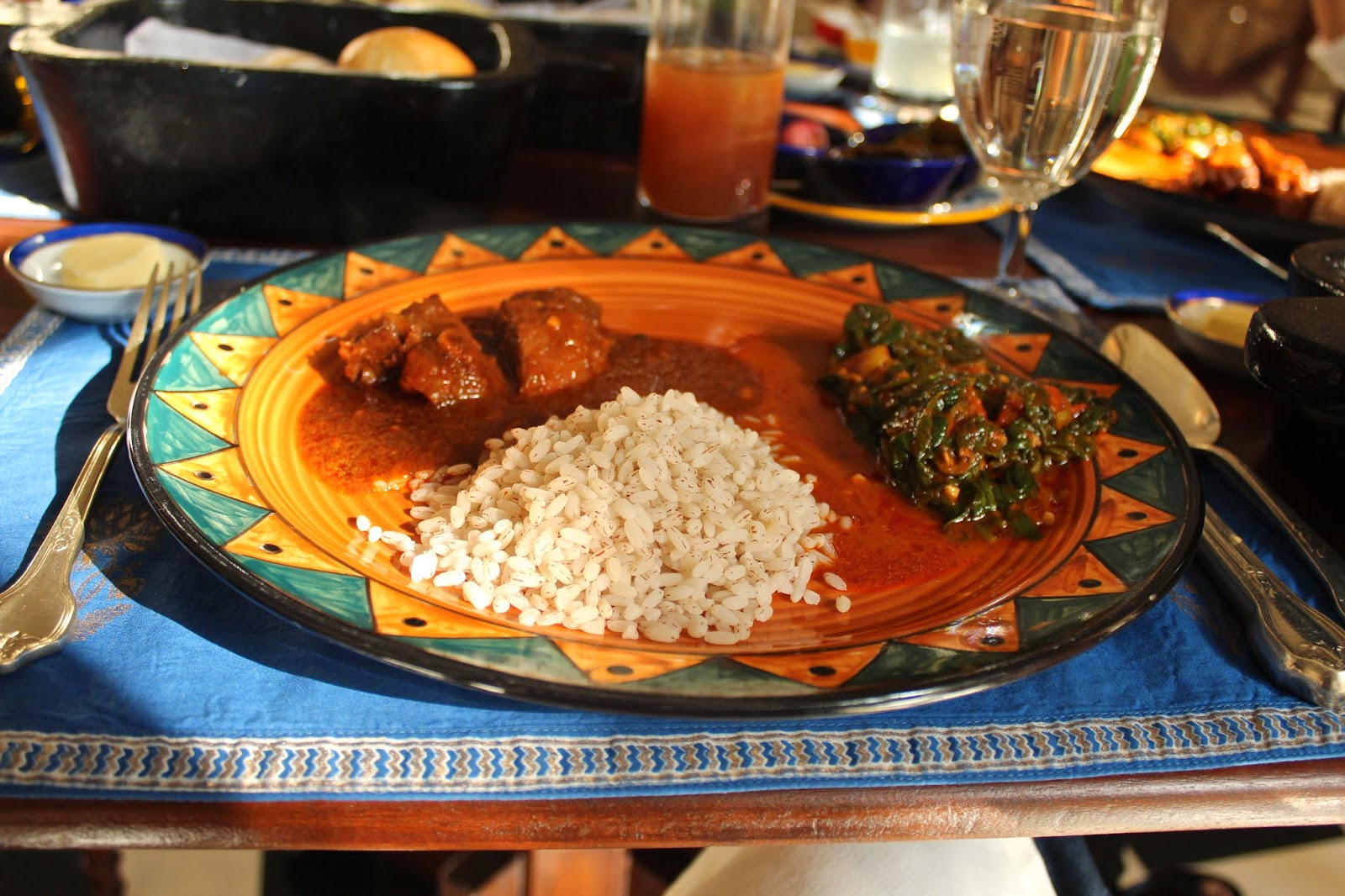 Rajasthani food at Oberoi Vanyavilas