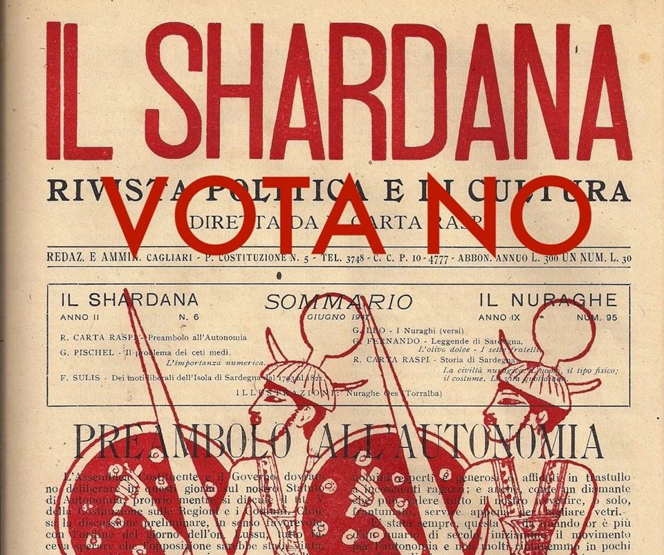 IL #SHARDANA VOTA #NO AL #REFERENDUM COSTITUZIONALE
