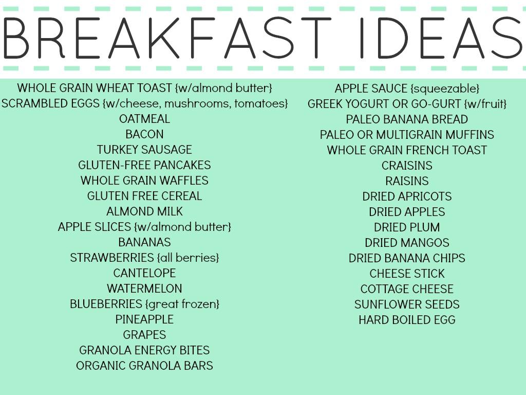 Classroom Breakfast Ideas : My fitness class part nutrition video of