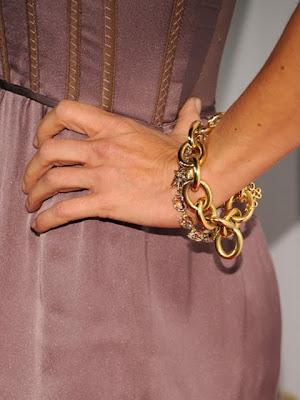 Julie Benz Gold Link Bracelet