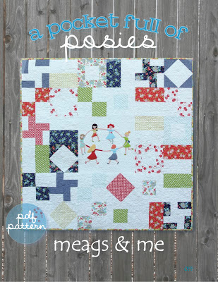 meags and me Pocket Full of Posies Pattern with Happy Go Lucky Fabric