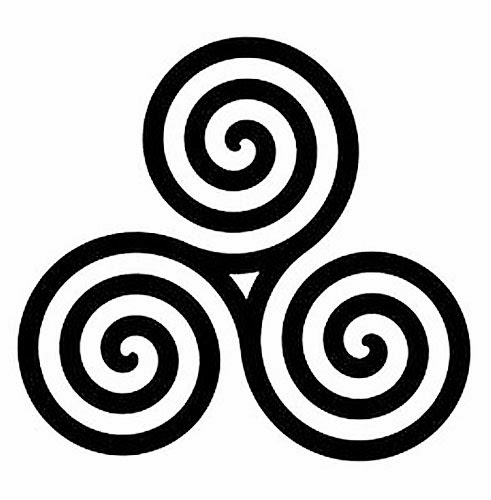 Celtic triple spiral tattoo stencil