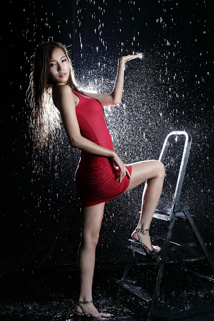 4 Lee Ji Min in Red-very cute asian girl-girlcute4u.blogspot.com