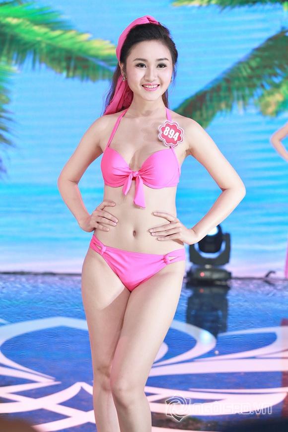 Ảnh gái xinh Hoa hậu miền bắc 2014 với bikini 21