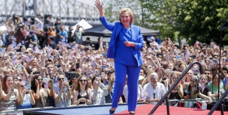 Hillary Clinton's official campaign launched in New York City