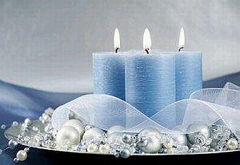 Decoraci n de navidad centros de mesa con - Decoracion de navidad con velas ...