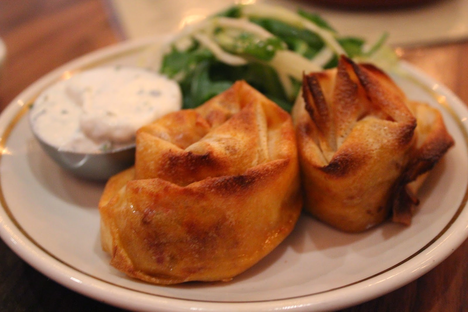 Basturma and cheese rolls at Sarma, Somerville, Mass.