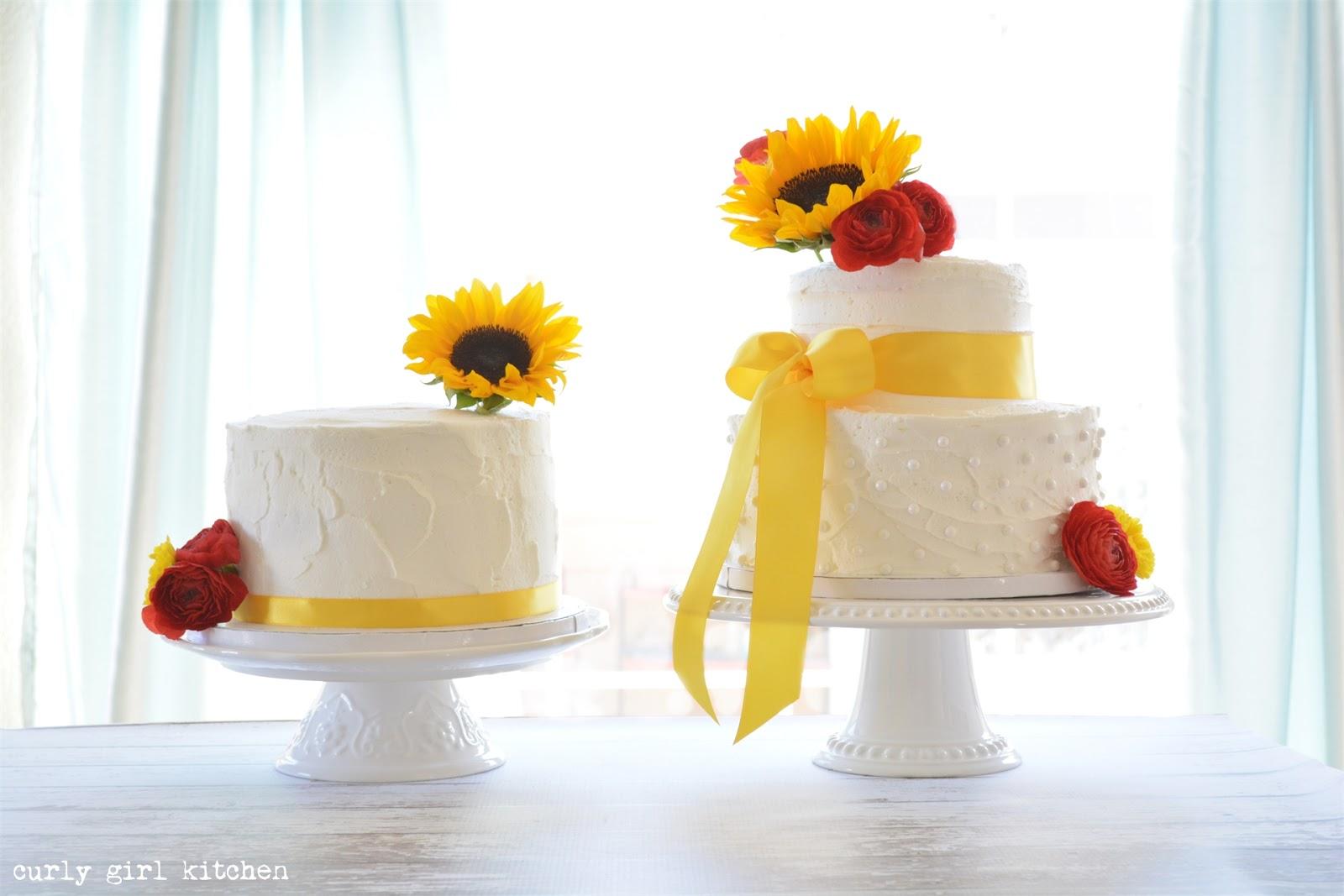 Curly Girl Kitchen: Sunflower Wedding Cakes