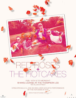 The HOTcakes Are Playing an Acoustic Valentine's Day Show at Shang Lounge (LES)