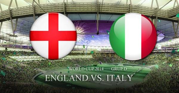 PREVIEW Pertandingan Inggris vs Italia 15 Juni 2014 Dini Hari