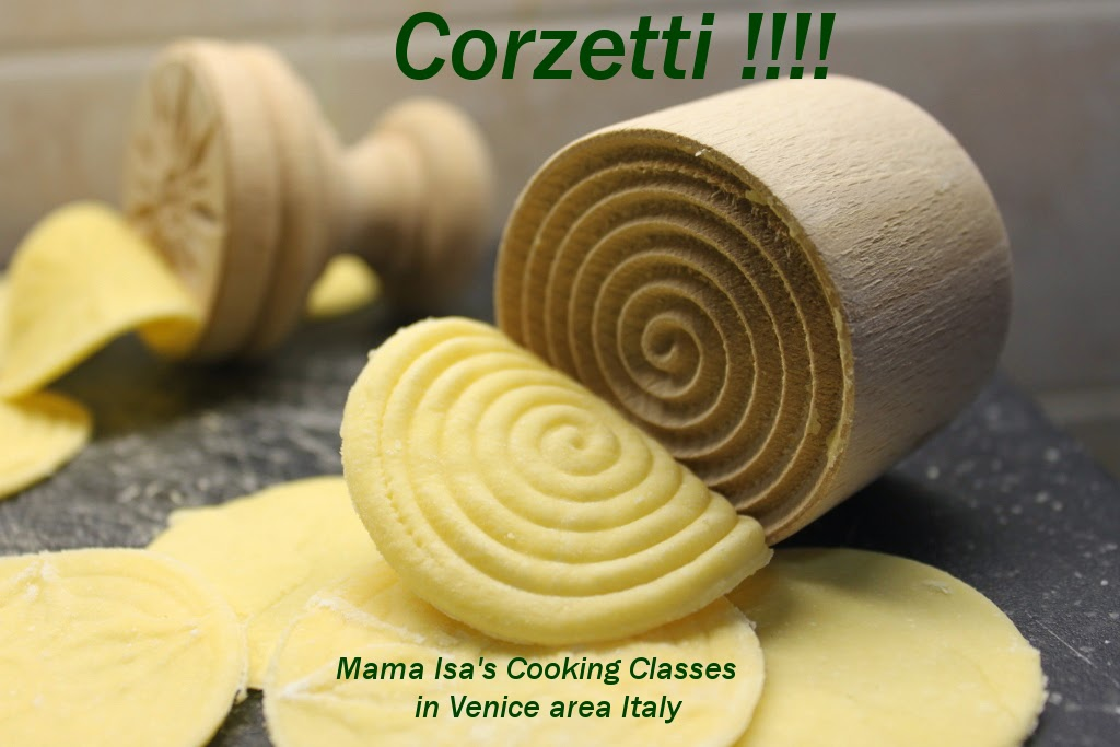 Corzetti at Mama Isa's Cooking Classes in Venice area Italy