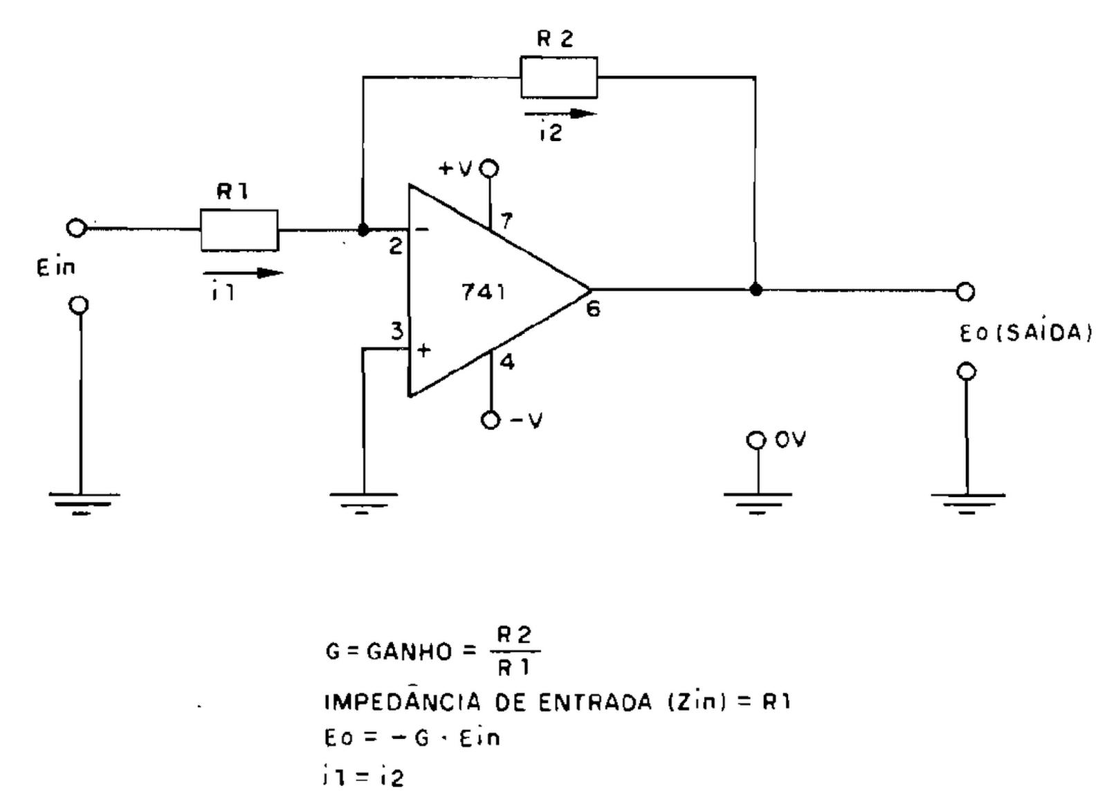 Circuito Operacional : EletrÔnica geral amplificador operacional