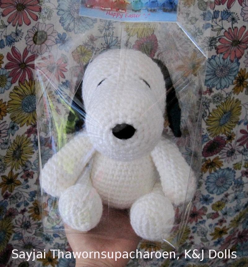 Snoopy - Sayjai Amigurumi Crochet Patterns ~ K and J Dolls ...