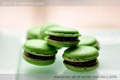 Macarons de té verde (y piña)