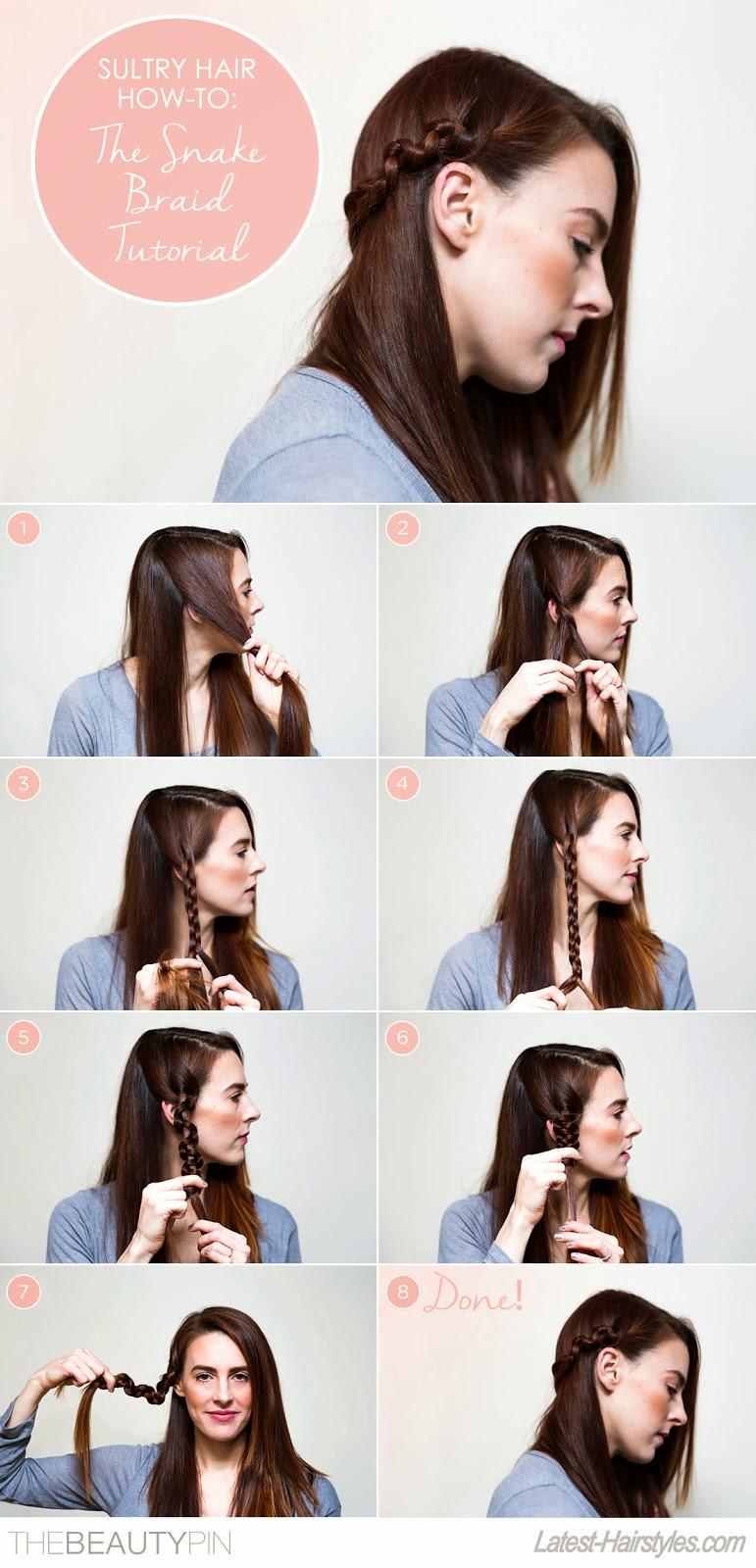 The Snake Braid in 8 Easy Steps - The Daily Fashion and Beauty News