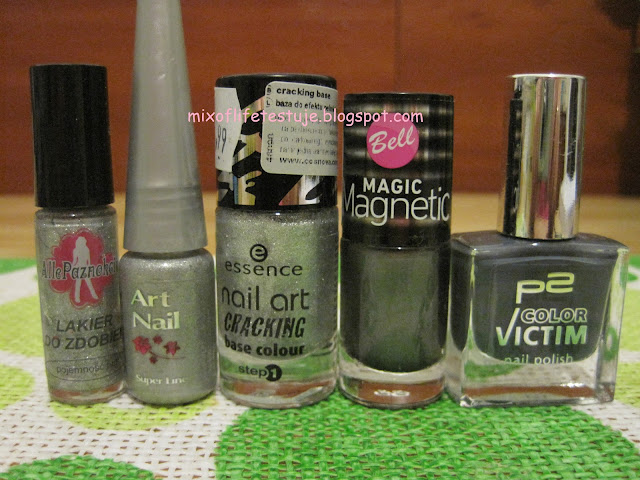 Essence 02 sprakling silver, Bell Maic Magnetic 033,p2 color victim  720 glory