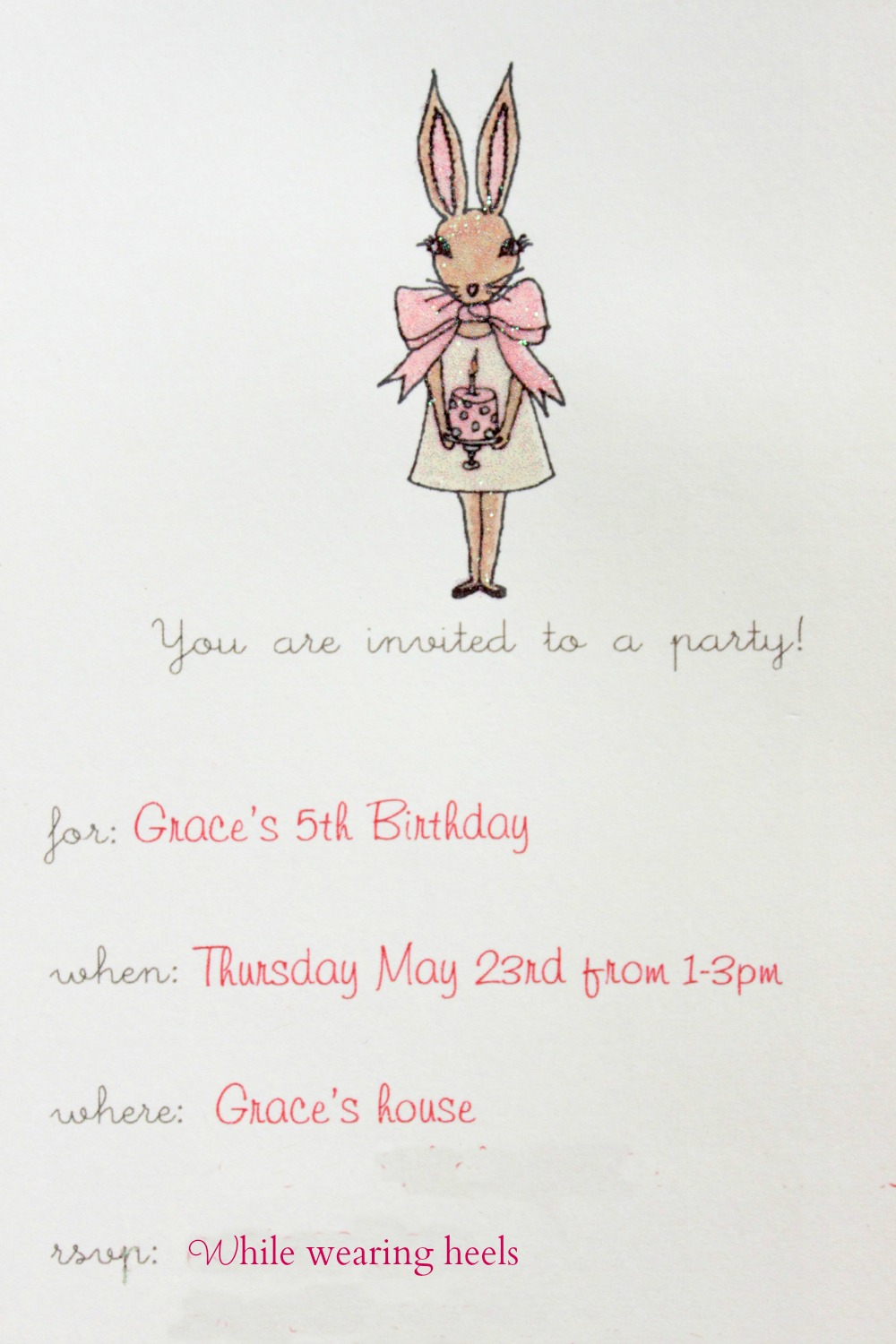 While Wearing Heels Bunny Themed Birthday Party The Big Reveal