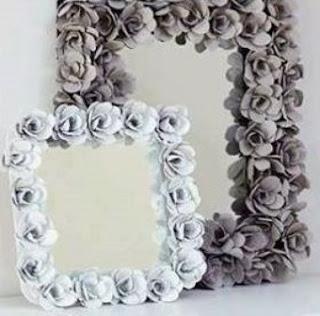 Cara Membuat bunga dari wadah telur bekas untuk hiasan kaca / Dinding Rumah