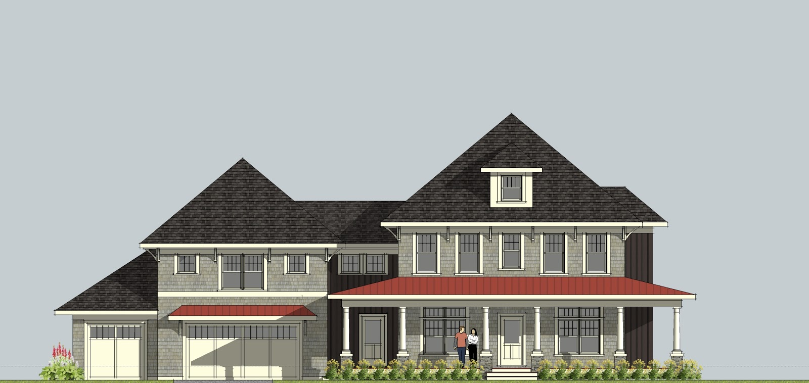 House Plans with Porch and Garage