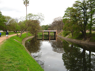 landscape of the river at Prado Montevideo Uruguay