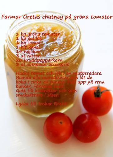gröna tomater chutney
