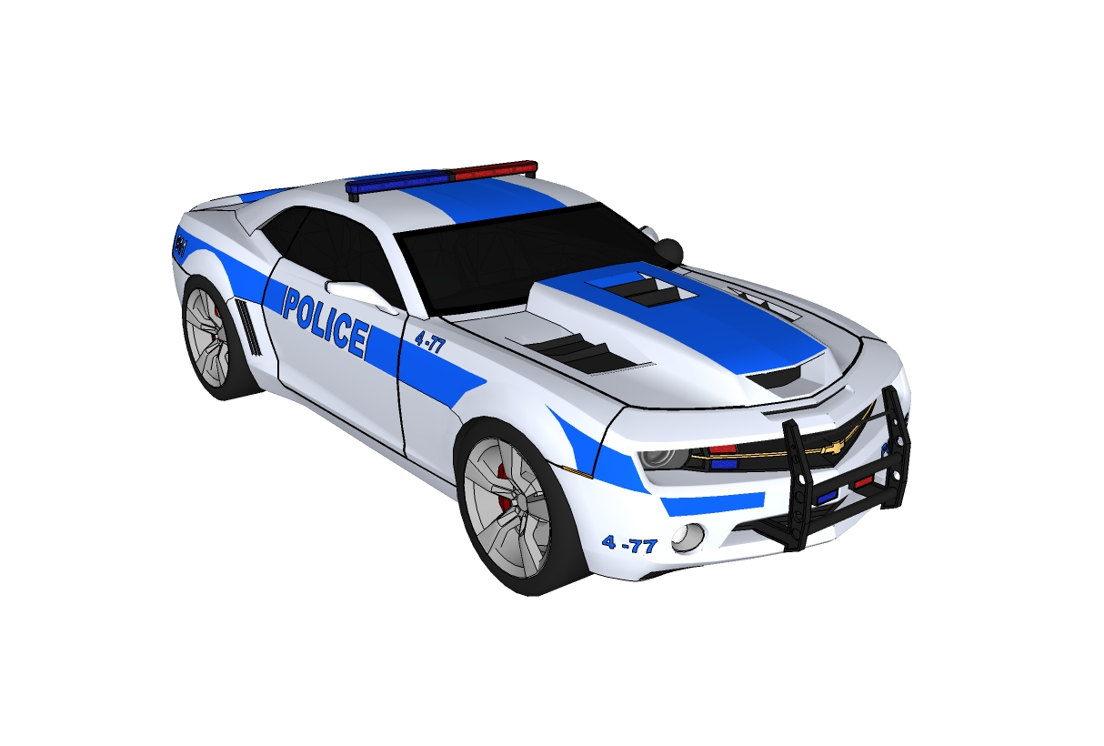 3d Model Police Car Beautiful Tune Sporty Style Brand