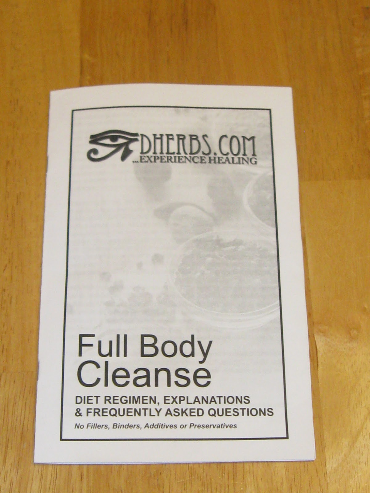 dherbs full body cleanse instruction booklet