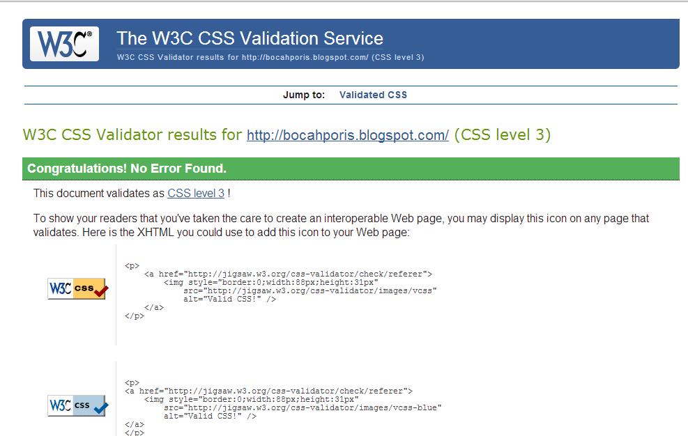 Cara Mudah Agar Blog Valid CSS3
