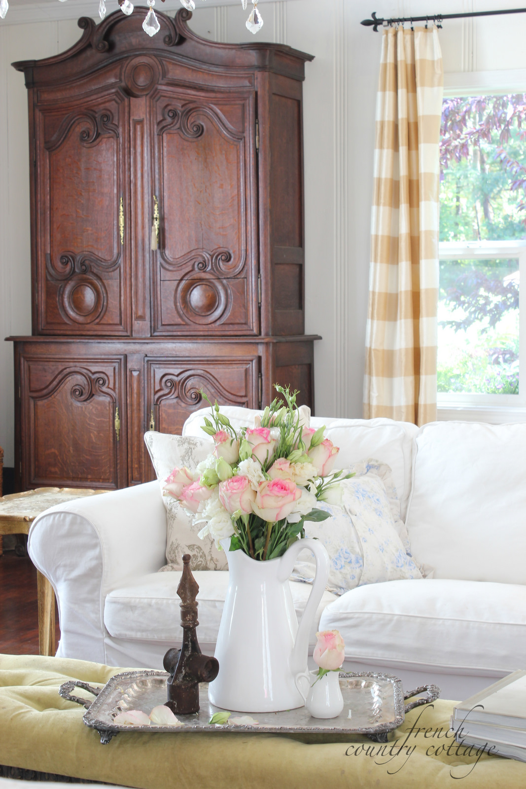 White Slipcovers French Country Cottage