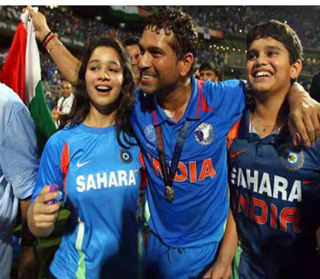Sara Tendulkar with Sachin at world cup winning day, Arjun Tendulkar at Wankhede on world cup winning day