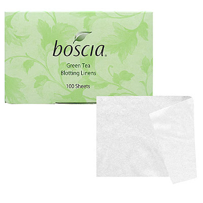 Boscia, Boscia blotting linens, Boscia Green Tea Blotting Linens, blotting linens, blotting papers, Boscia blotting papers