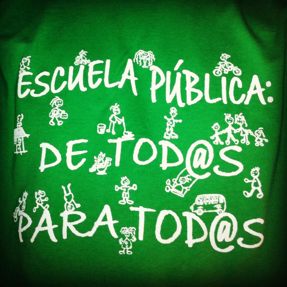¡Sí, a la escuela pública!
