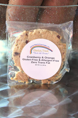 Gluten Free Cookie: Ann's Nut & Fruit Cake, Inc Gladys Treat Cranberry and Orange Cookie