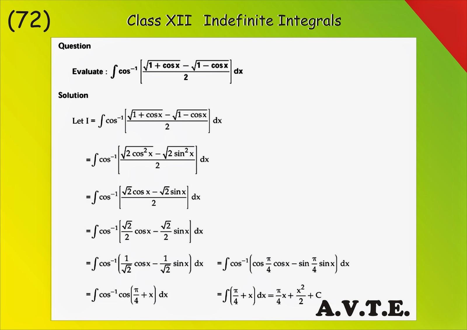 Maths4all: indefinite integration