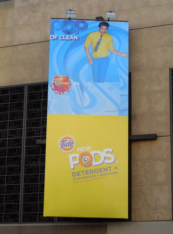 Tide bright pods billboard