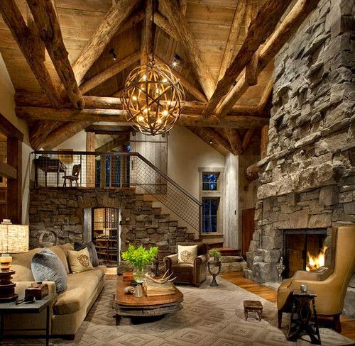 20 ideas de decoraci n de salas r sticas en fotos - Casas rusticas decoracion interiores ...