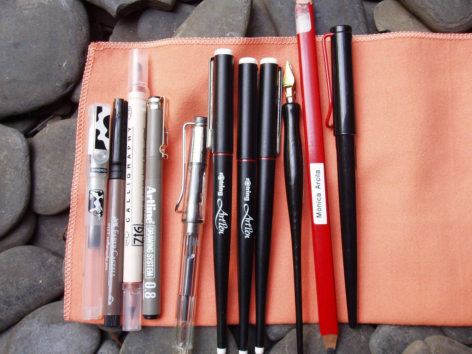Algunas herramientas caligráficas