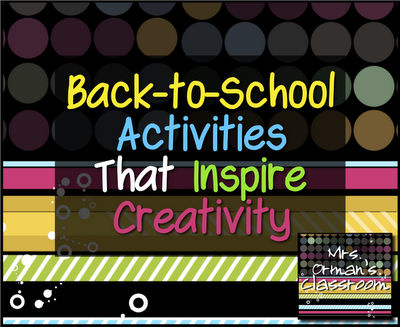 Back-to-School Activities to Inspire Creativity from http://www.traceeorman.com/2012/07/back-to-school-activities-to-inspire.html