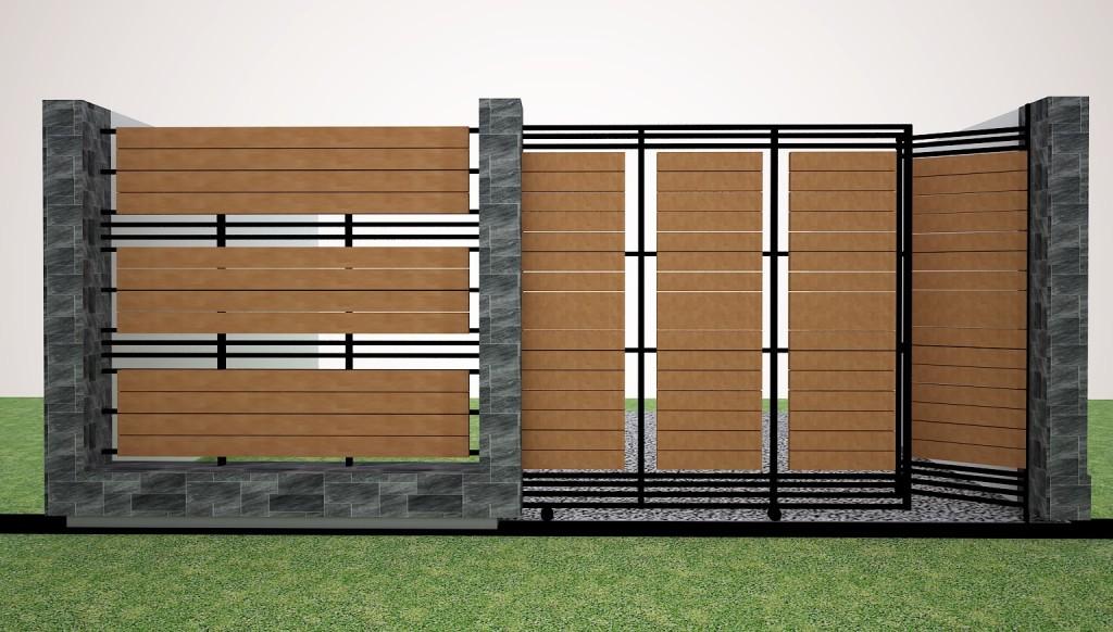 Sekian artikel desain rumah : Desain Pagar Rumah Minimalis Modern ...