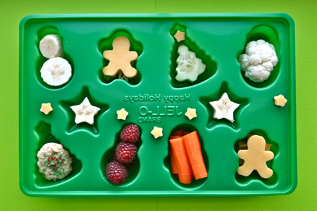 Jello Jiggler mold Christmas nibble tray &quot;muffin tin meal&quot;