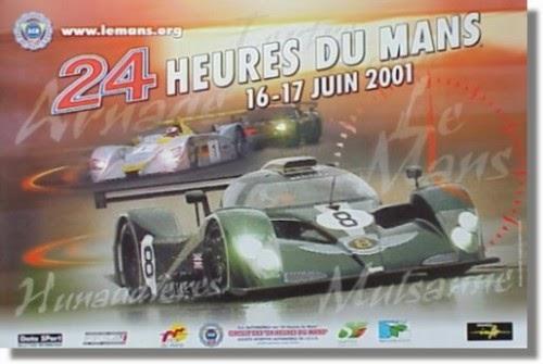 Affiche officielle des 24 Heures du Mans 2001