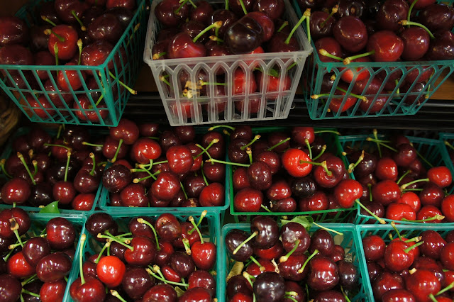 Organic cherries at Bi-Rite Market in The Mission
