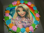 Birthday Cake + Cartoon Edible Image