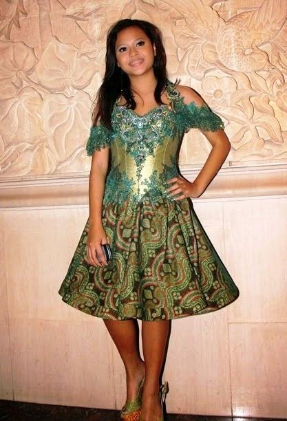 Foto Baju kebaya Aurel Hermansyah Anak Artis Model Terbaru