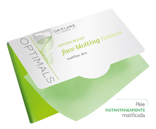 Toalhetes Faciais Matificantes Optimals Oxygen Boost da Oriflame