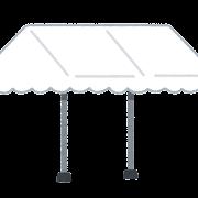 屋台テントのイラスト