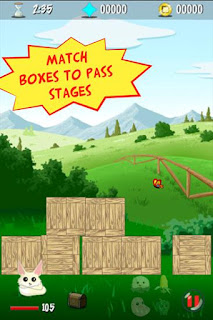 Screenshots of the Boxes appventure for Android tablet, phone.