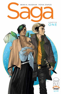 First issue of Saga by Brian K Vaughn and Fiona Staples